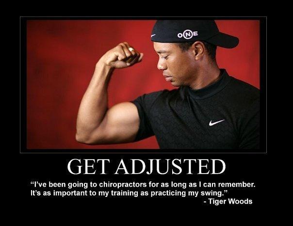 Tiger Woods - get adjusted